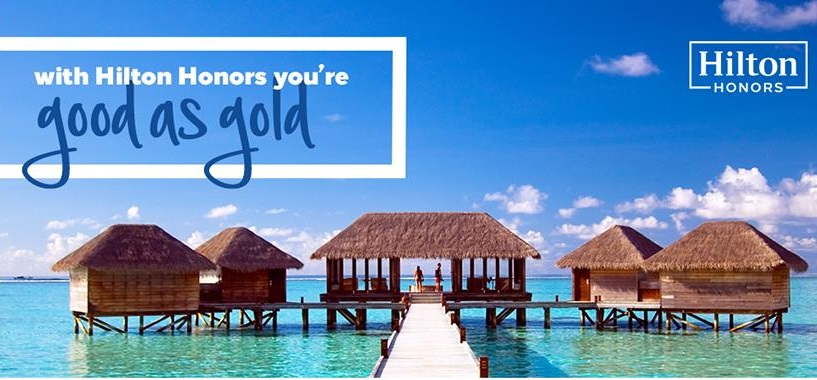 HILTON HONORS GOLD FAST TRACK REQUIRING 4 STAYS WITHIN 90 DAYS
